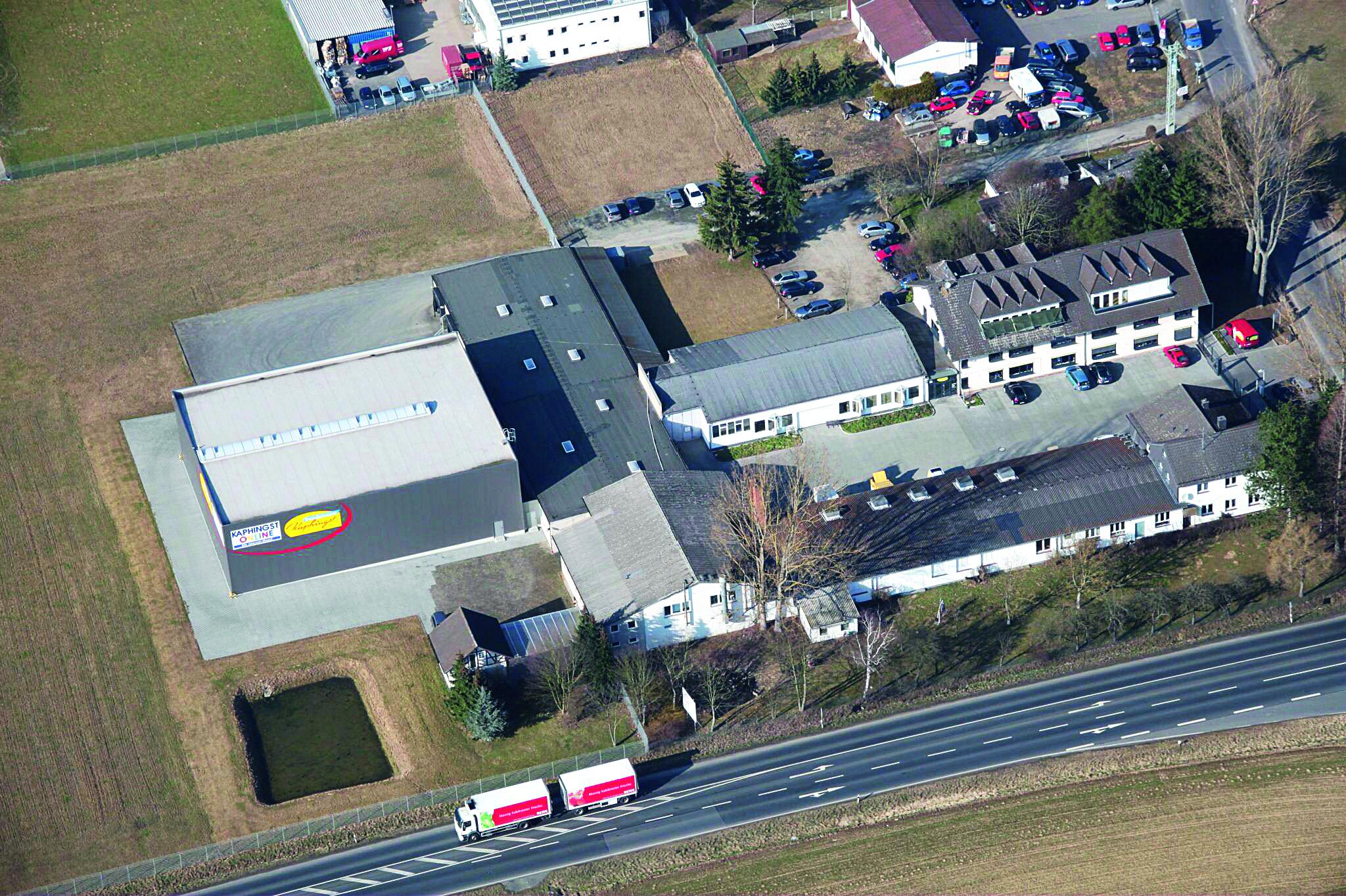 Luftaufnahme Lahntal-Goßfelden mit Logistikzentrum in 2012