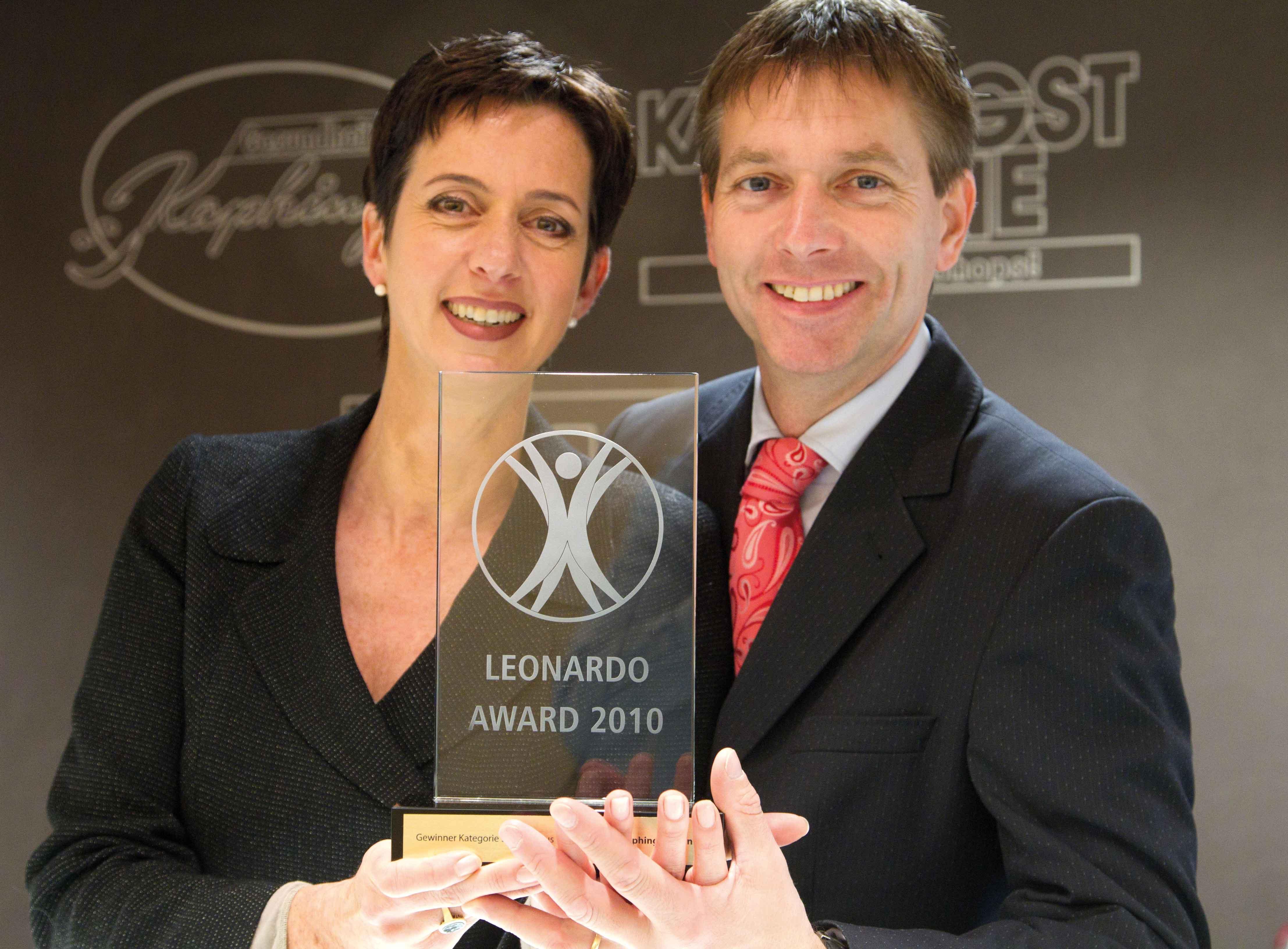 Kaphingst erhält 2010 den Leonardo-Award als bestes deutsches Gesundheits-Fachgeschäft